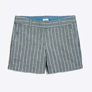 "J Crew Factory Blue White 5"" Cotton Striped Shorts"